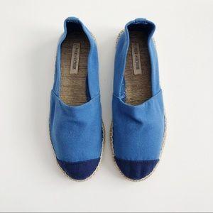Pour La Victoire NEW Blue Colorblock Espadrilles